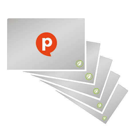 Visitenkarten   350 g/m² Offset weiß   einseitig